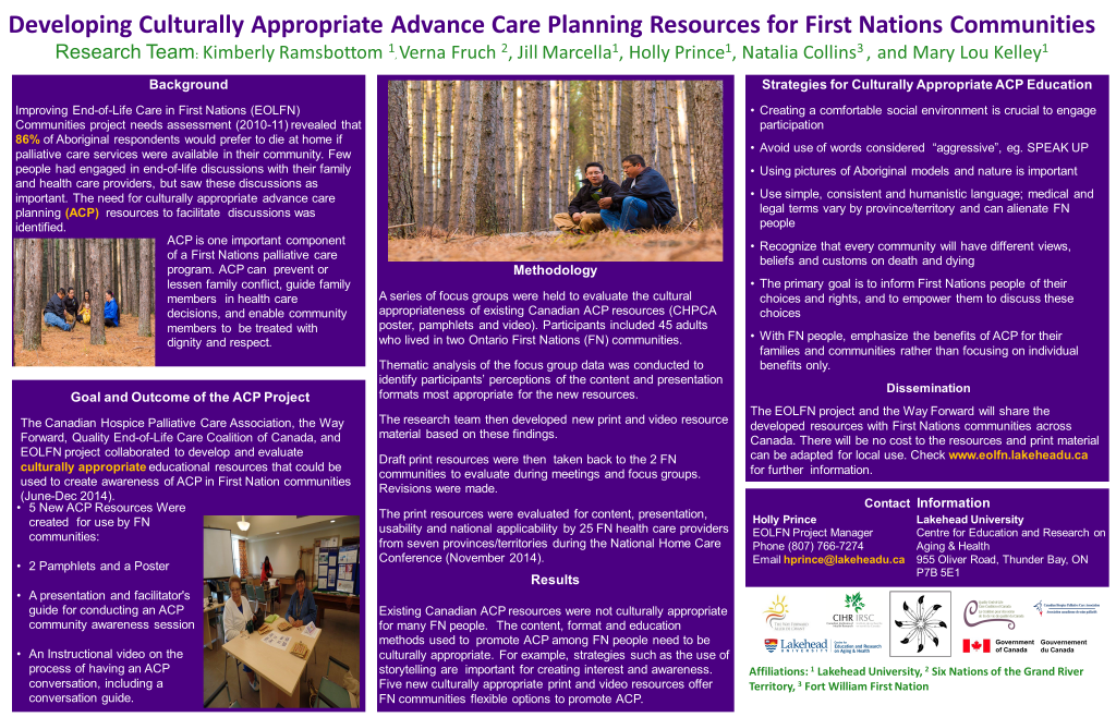 Info Poster for Advance Care Planning Resouces