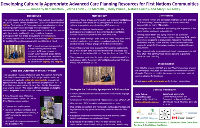 Updated graphic for Advanced Care Planning Resources for First Nations Communities