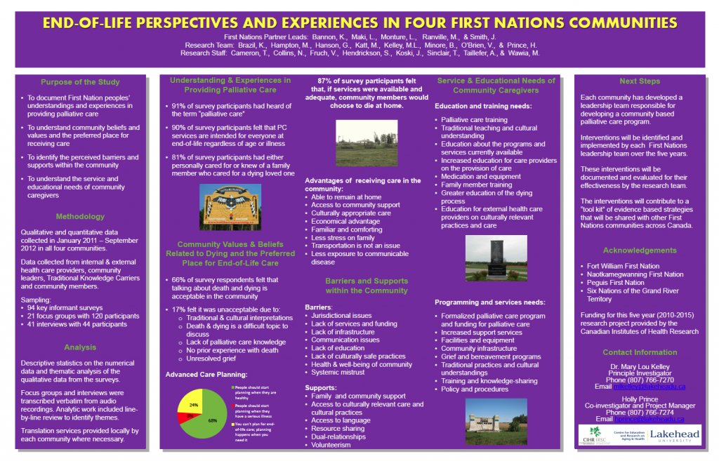 Poster Graphic for End-of-Life Perspectives and Experiences