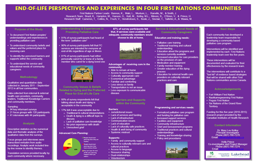 Graphic of End of Life Perspectives and Experiences Poster